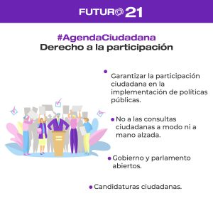 derecho a la participación agenda ciudadana