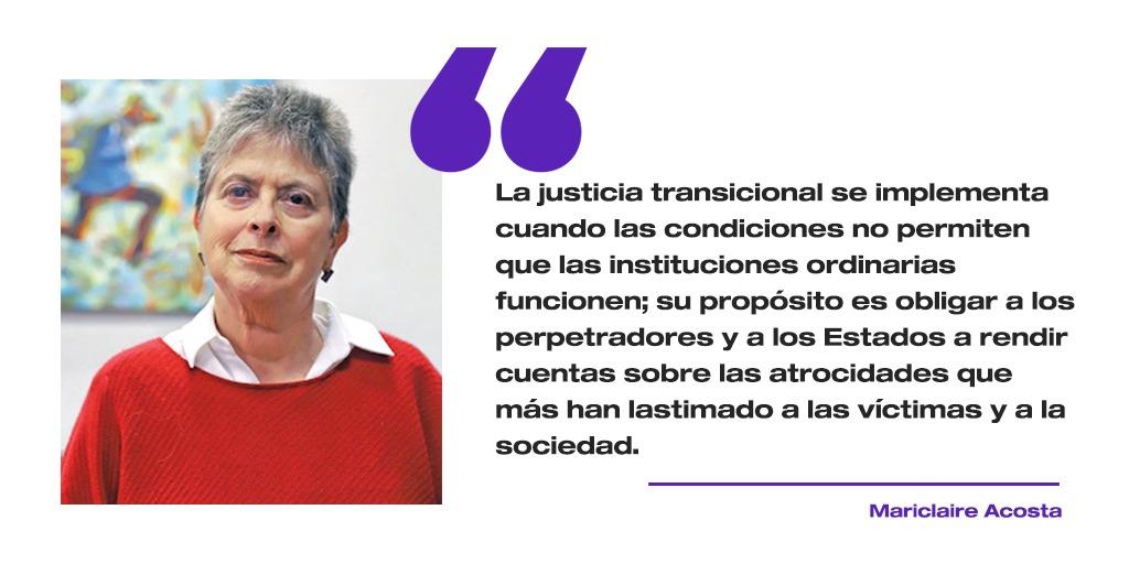 ¿Qué es la justicia transicional?