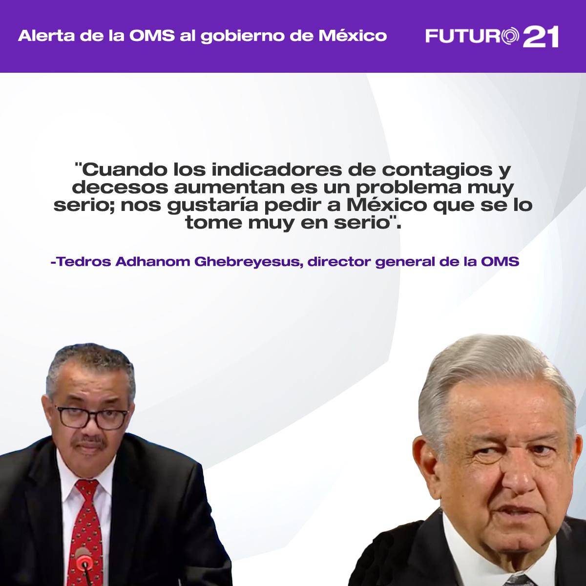 Alerta OMS a presidente López Obrador